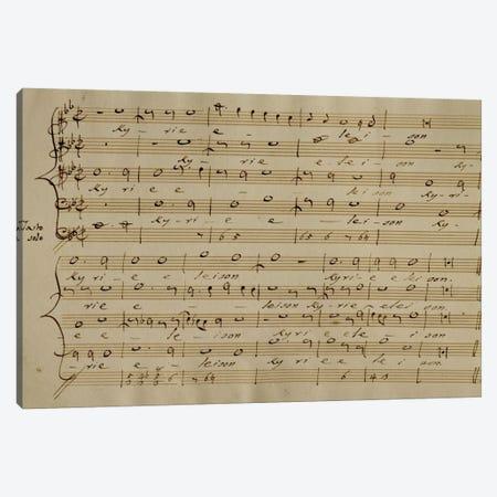 Score Sheet Of The Kyrie Eleison From The Messa a Quattro Voci Canvas Print #BMN6378} by Giovanni Pierluigi da Palestrina Canvas Art Print