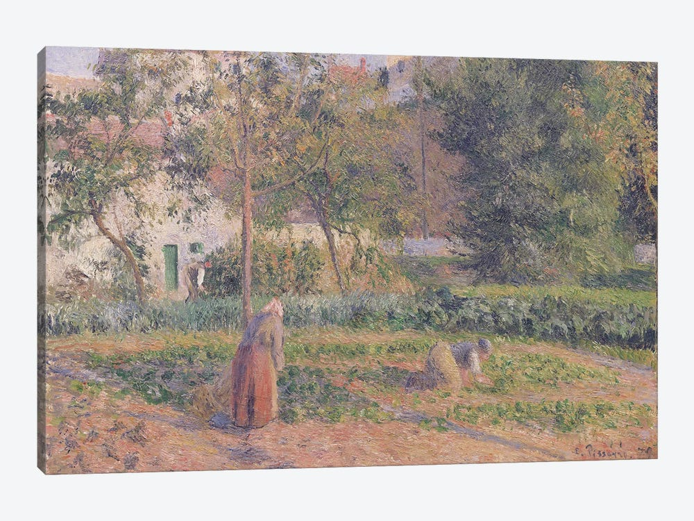 Vegetable Garden at the Hermitage, Pontoise, 1879  by Camille Pissarro 1-piece Art Print