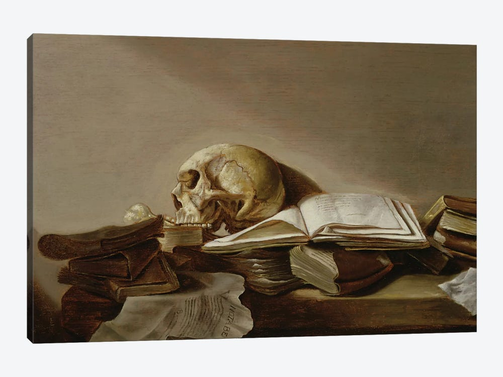 Vanitas by Jan Davidsz de Heem 1-piece Canvas Art Print