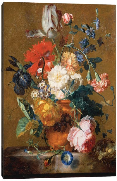 Bouquet Of Flowers Canvas Art Print