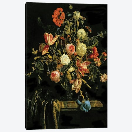 Flower Still Life, 1706 Canvas Print #BMN6384} by Jan van Huysum Canvas Art Print