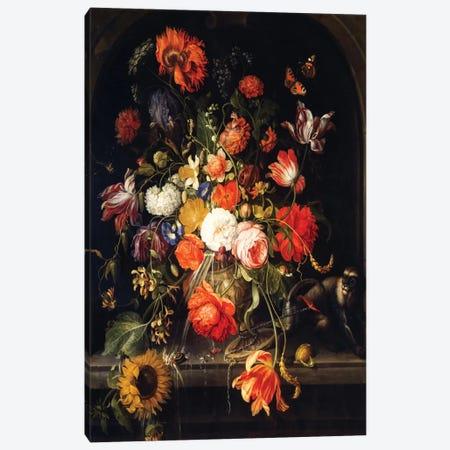 Flowers Canvas Print #BMN6385} by Jan van Huysum Canvas Art Print