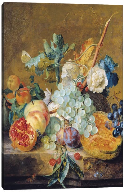 Flowers And Fruit Canvas Print #BMN6386