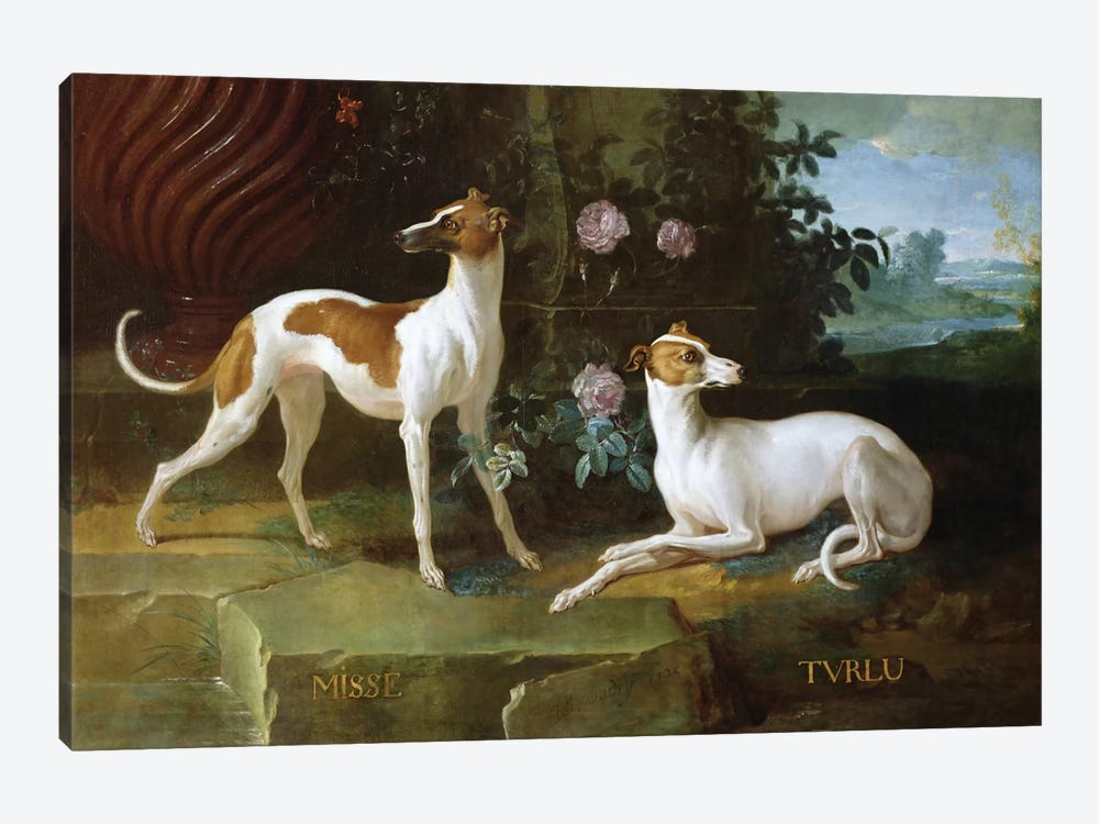 Misse And Turlu, Two Greyhounds Of Louis XV by Jean-Baptiste Oudry 1-piece Art Print