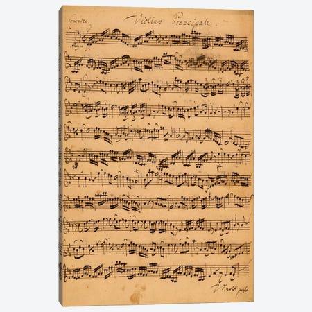 Score Sheet Of Brandenburg Concerto No. 5 In D Major Canvas Print #BMN6389} by Johan Sebastian Bach Canvas Art