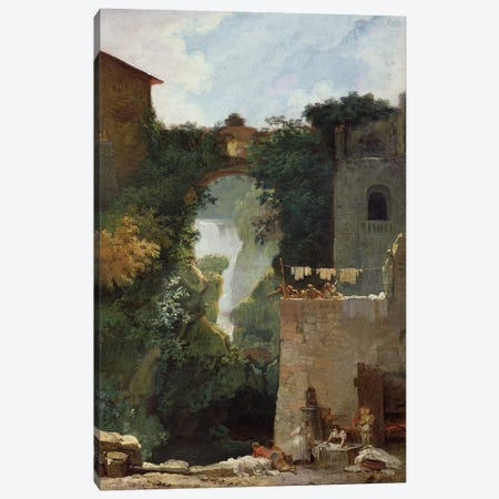 The Falls of Tivoli  Canvas Print #BMN638} by Jean-Honore Fragonard Art Print