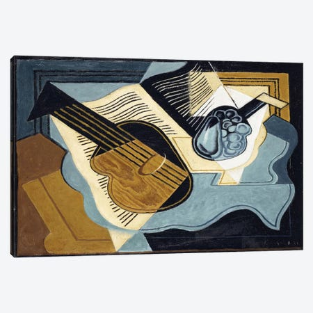 Guitar And Fruit Bowl, 1921 Canvas Print #BMN6390} by Juan Gris Canvas Art Print