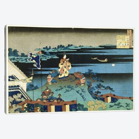 The Exiled Poet Nakamaro (Abe no Nakamaro), c.1838 Canvas Print #BMN6397} by Katsushika Hokusai Canvas Artwork