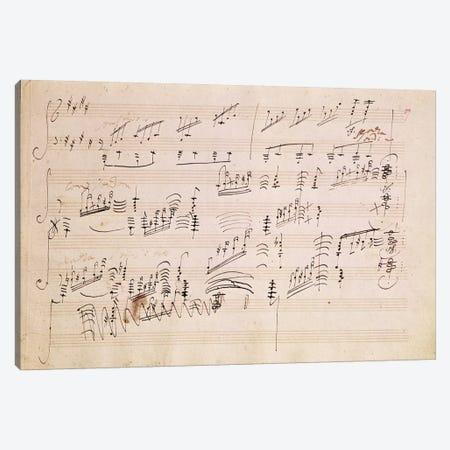 Score Sheet Of Moonlight Sonata Canvas Print #BMN6399} by Ludwig van Beethoven Art Print