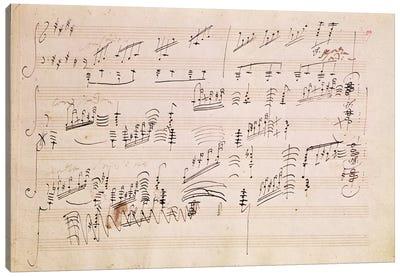 Score Sheet Of Moonlight Sonata Canvas Print #BMN6399