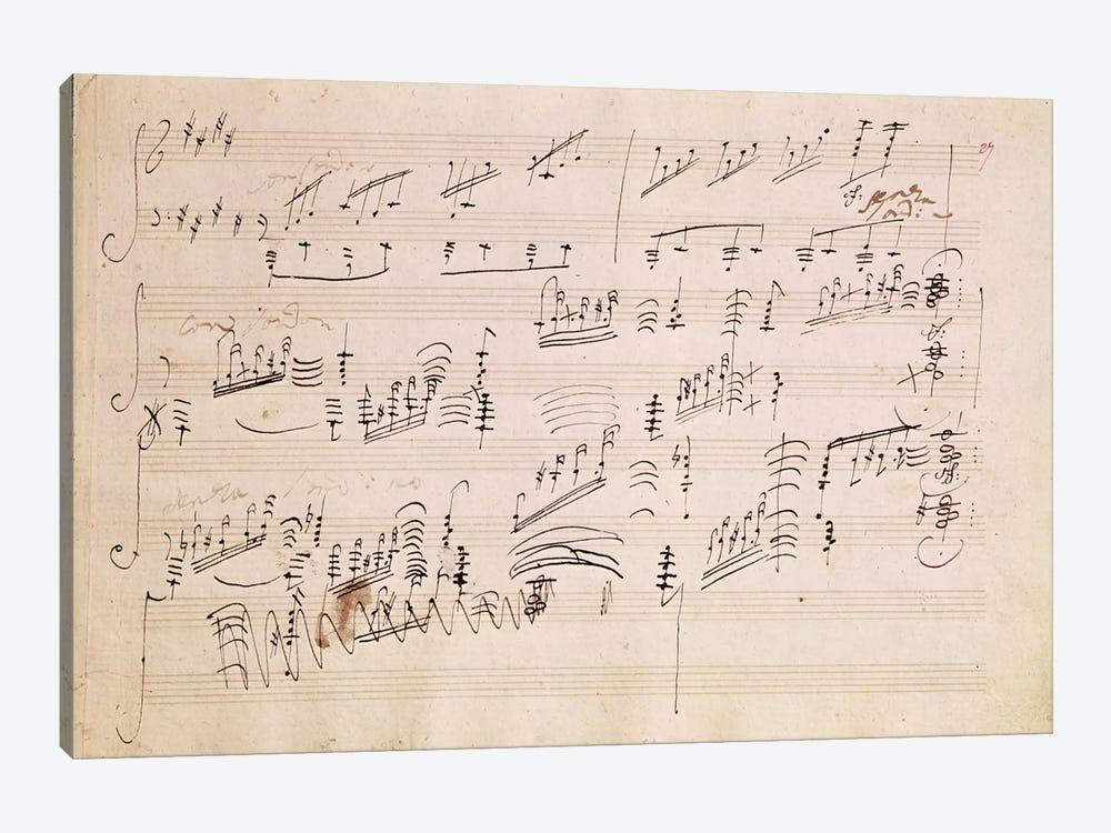 Score Sheet Of Moonlight Sonata Canvas ... | Ludwig van Beethoven ...