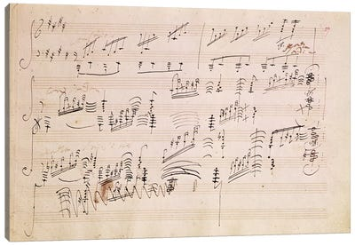 Score Sheet Of Moonlight Sonata Canvas Art Print