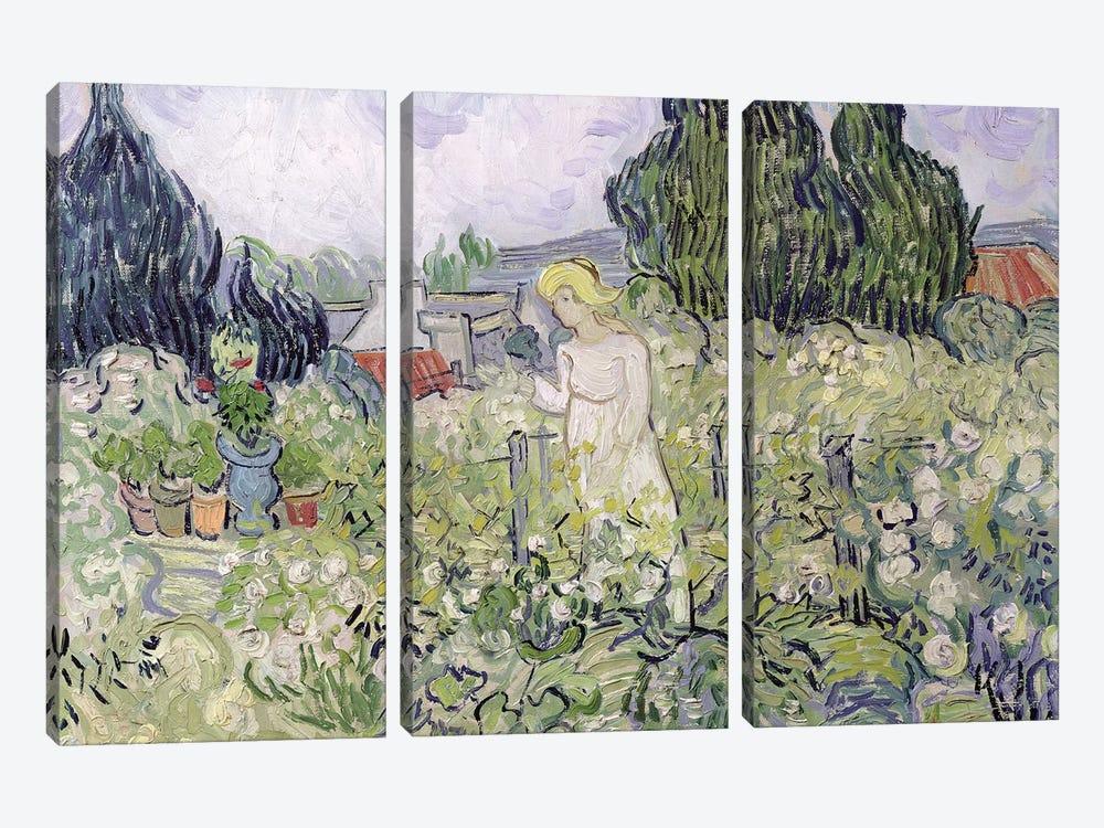 Mademoiselle Gachet in her garden at Auvers-sur-Oise, 1890  by Vincent van Gogh 3-piece Canvas Print
