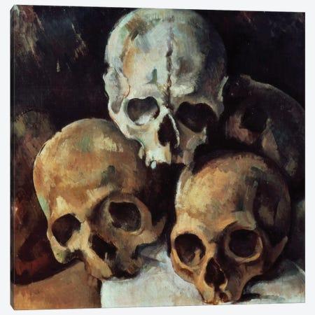 Pyramid Of Skulls, 1898-1900 Canvas Print #BMN6402} by Paul Cezanne Canvas Art Print