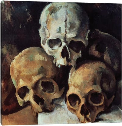 Pyramid Of Skulls, 1898-1900 Canvas Art Print