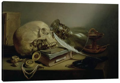 A Vanitas Still Life Canvas Art Print