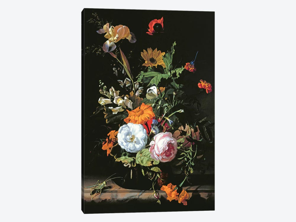 Still Life Of Summer Flowers by Rachel Ruysch 1-piece Canvas Wall Art