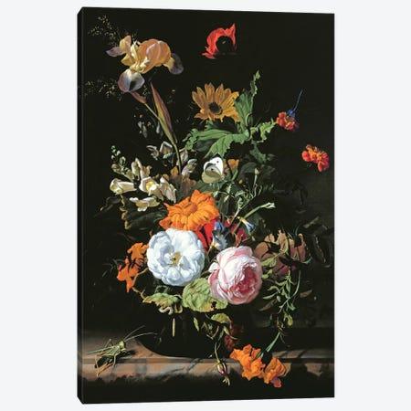 Still Life Of Summer Flowers Canvas Print #BMN6406} by Rachel Ruysch Canvas Art