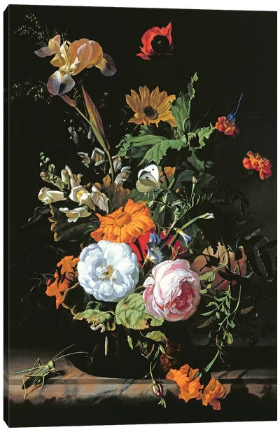 Still Life Of Summer Flowers Canvas Art Print