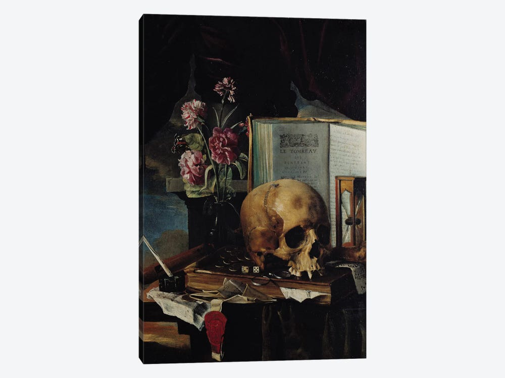 Vanitas I by Simon Renard de Saint-Andre 1-piece Canvas Art Print
