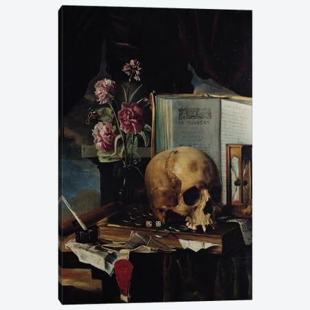 Vanitas I Canvas Print #BMN6407} by Simon Renard de Saint-Andre Canvas Wall Art
