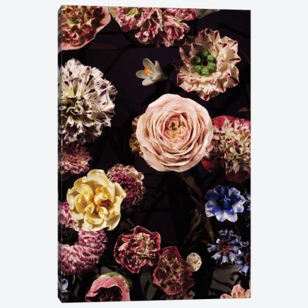 Vase Garnished With Flower Bouquets Canvas Print #BMN6409} by Vincennes Porcelain Manufactory Art Print