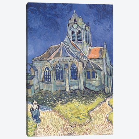 The Church at Auvers-sur-Oise, 1890  Canvas Print #BMN640} by Vincent van Gogh Canvas Wall Art