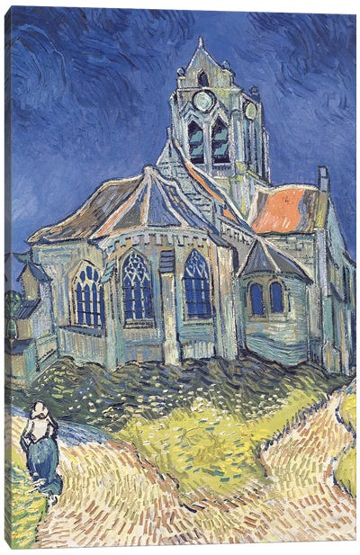 The Church at Auvers-sur-Oise, 1890  Canvas Art Print