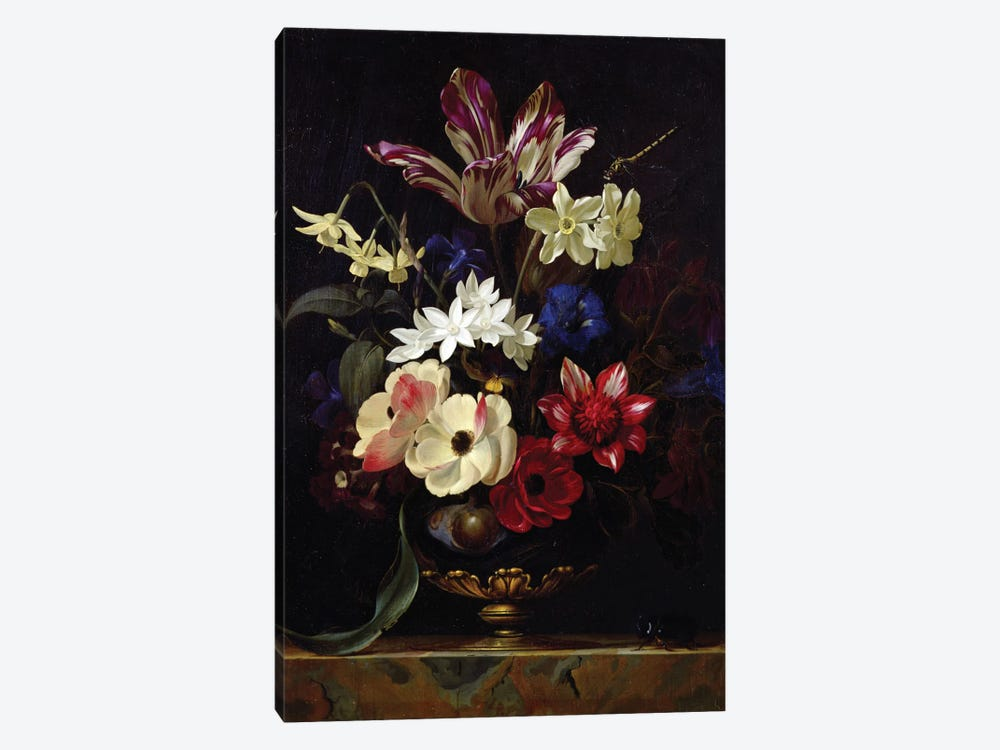 Still Life With Flowers by Willem van Aelst 1-piece Canvas Print