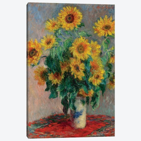 Bouquet Of Sunflowers, 1881 Canvas Print #BMN6413} by Claude Monet Canvas Art