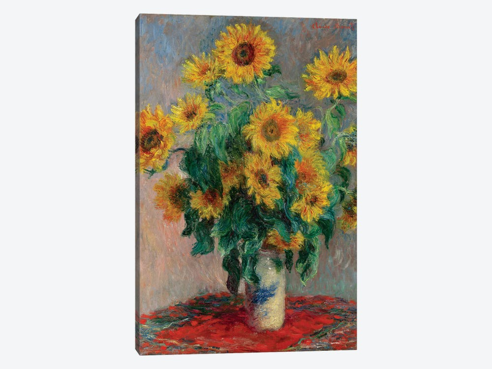 Bouquet Of Sunflowers, 1881 by Claude Monet 1-piece Canvas Artwork