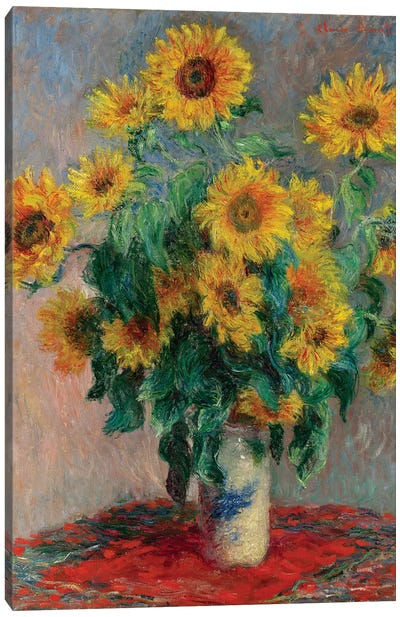 Bouquet Of Sunflowers, 1881 Canvas Art Print