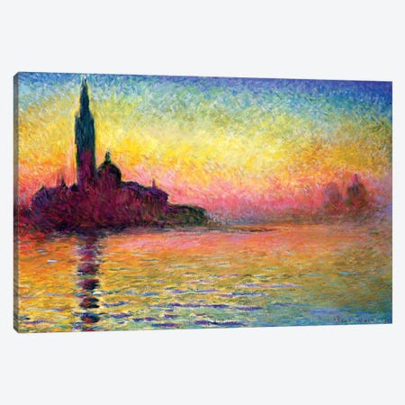 San Giorgio Maggiore By Twilight, 1908 (National Museum Of Wales, Cardiff) Canvas Print #BMN6414} by Claude Monet Canvas Print