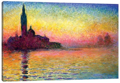 San Giorgio Maggiore By Twilight, 1908 (National Museum Of Wales, Cardiff) Canvas Print #BMN6414