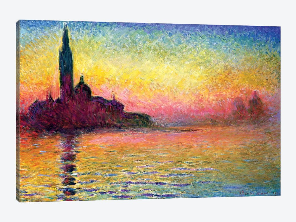 San Giorgio Maggiore By Twilight, 1908 (National Museum Of Wales, Cardiff) by Claude Monet 1-piece Art Print