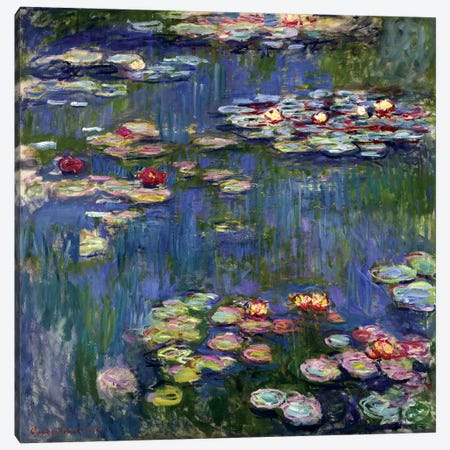 Water Lilies, 1916 Canvas Print #BMN6416} by Claude Monet Canvas Print