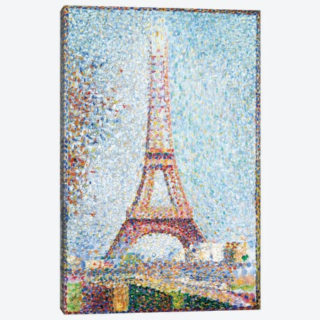 The Eiffel Tower, 1889 Canvas Print #BMN6418} by Georges Seurat Canvas Artwork