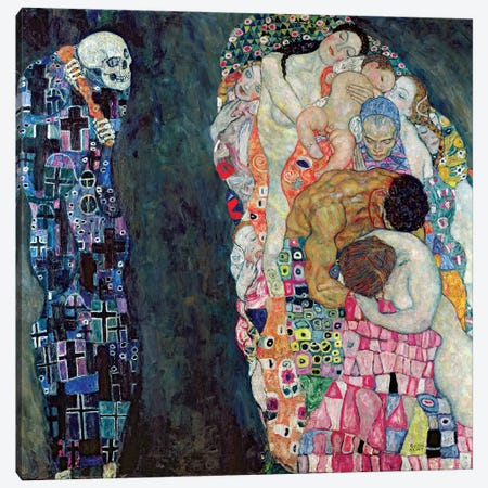 Death And Life, c.1911 Canvas Print #BMN6419} by Gustav Klimt Canvas Wall Art