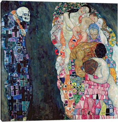 Death And Life, c.1911 Canvas Art Print