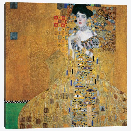 Portrait Of Adele Bloch-Bauer I, 1907 Canvas Print #BMN6421} by Gustav Klimt Art Print