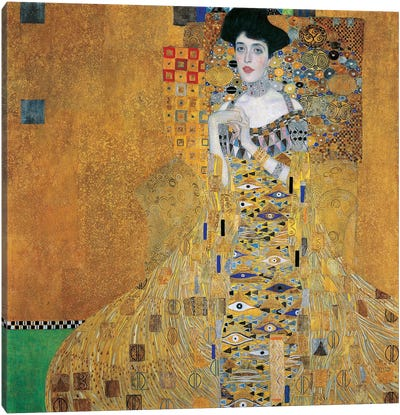 Portrait Of Adele Bloch-Bauer I, 1907 by Gustav Klimt Canvas Art Print