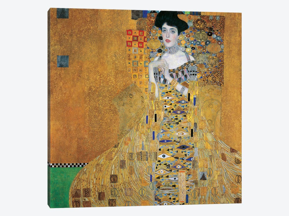 Portrait Of Adele Bloch-Bauer I, 1907 by Gustav Klimt 1-piece Canvas Art Print