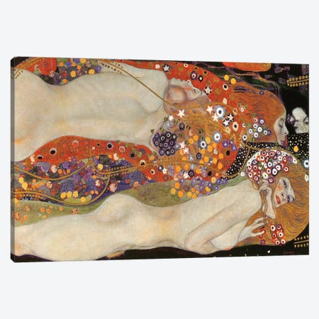 Water Serpents II, 1904-07 Canvas Print #BMN6422} by Gustav Klimt Canvas Art Print
