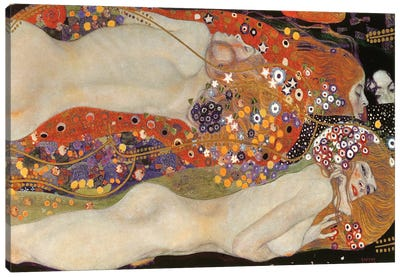 Water Serpents II, 1904-07 by Gustav Klimt Canvas Art Print