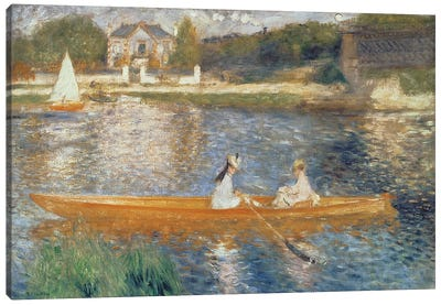 Boating On The Seine, c.1879 Canvas Art Print