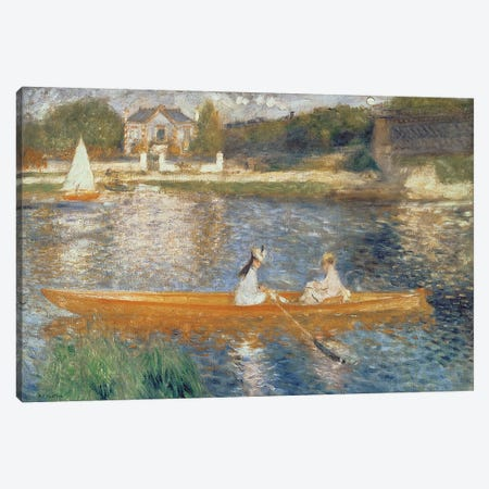Boating On The Seine, c.1879 Canvas Print #BMN6426} by Pierre-Auguste Renoir Canvas Wall Art