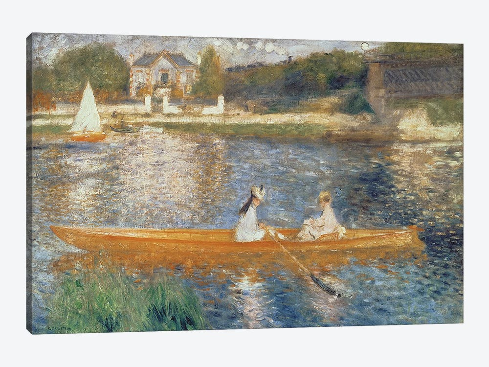 Boating On The Seine, c.1879 by Pierre-Auguste Renoir 1-piece Canvas Art