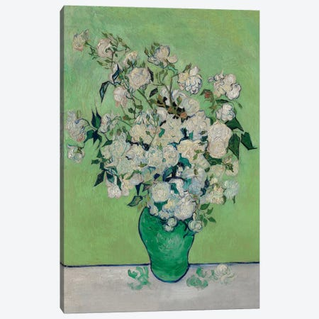 A Vase Of Roses, 1890 Canvas Print #BMN6427} by Vincent van Gogh Canvas Wall Art