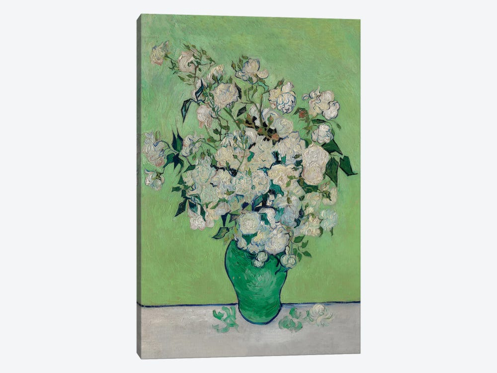 A Vase Of Roses, 1890 by Vincent van Gogh 1-piece Art Print