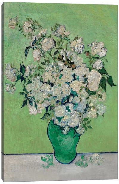 A Vase Of Roses, 1890 Canvas Art Print